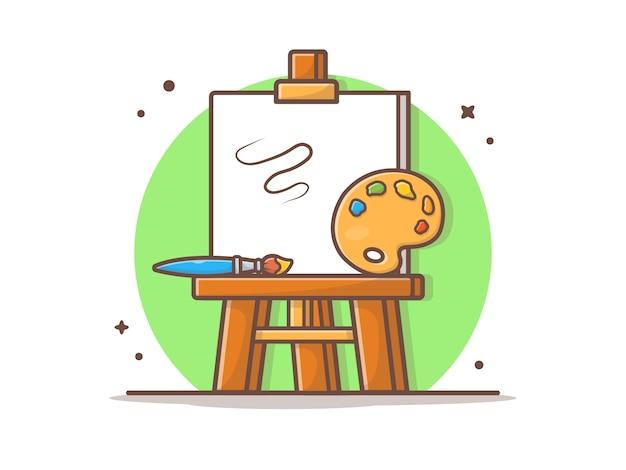 Ezel art board vector illustratie Premium Vector