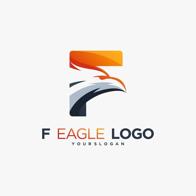 F eagle icoon havik valk Premium Vector