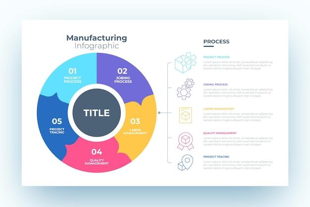 Fabricage van infographic ontwerp Gratis Vector