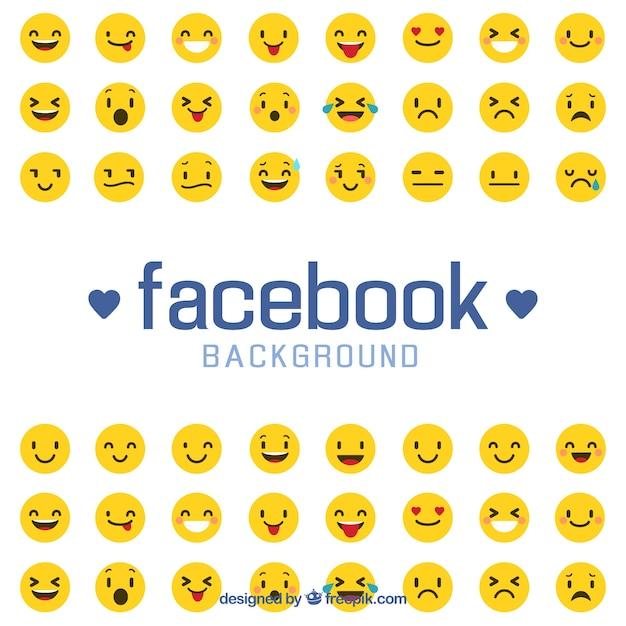 Facebook Achtergrond Wtih Emoticons Vector Gratis Download