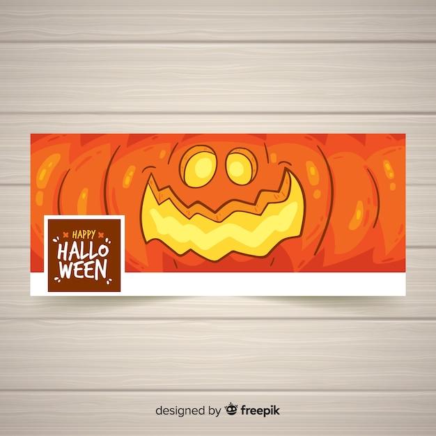 Facebook-banner met halloween concept Gratis Vector