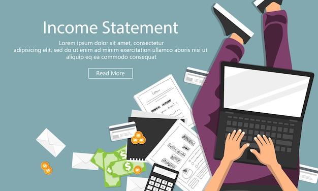 Factuur, financiële berekeningen Premium Vector