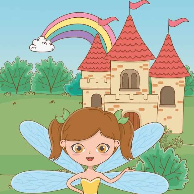 Fairy-cartoon van sprookje Gratis Vector