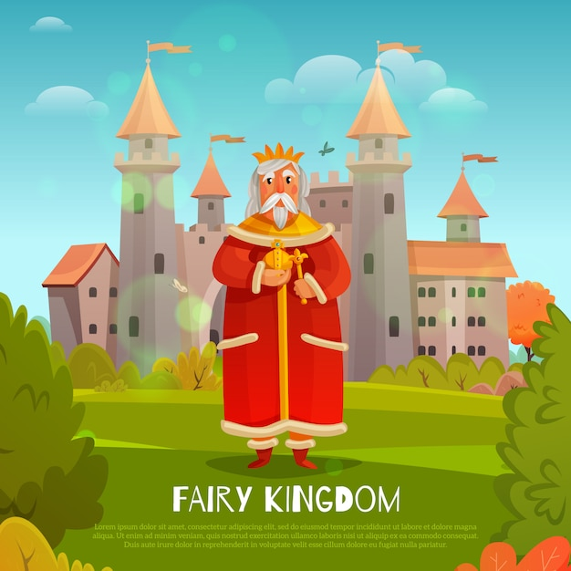 Fairy kingdom Gratis Vector