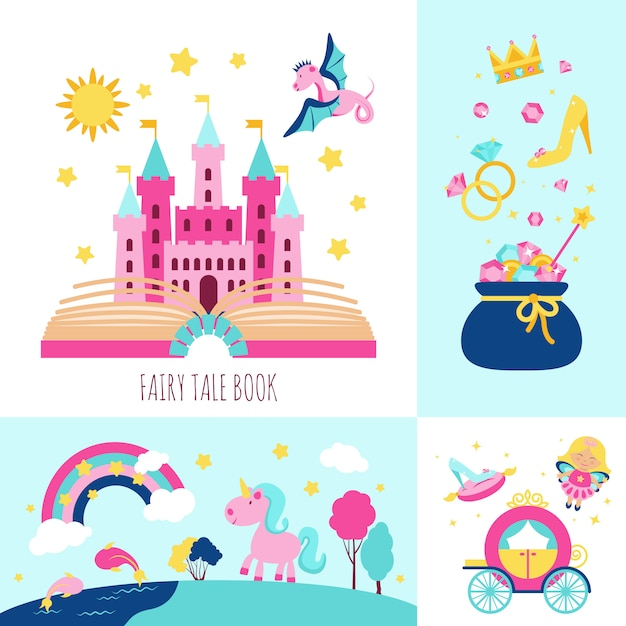 Fairy tale concept Gratis Vector