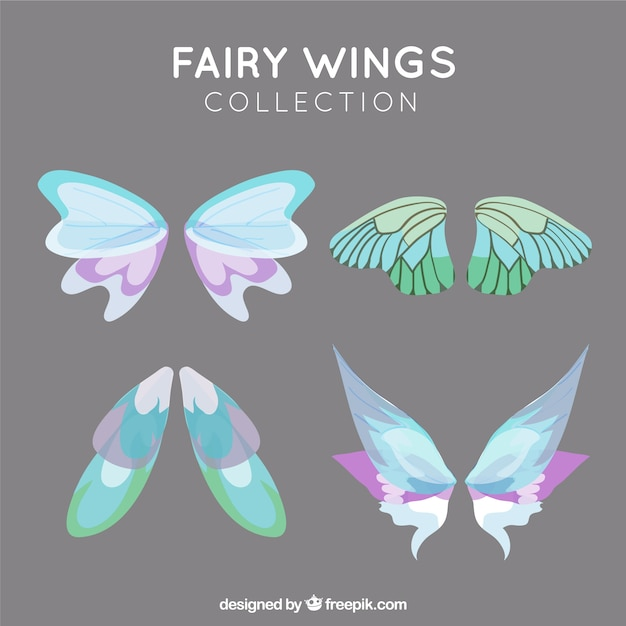 Fairy vleugel collectie Gratis Vector