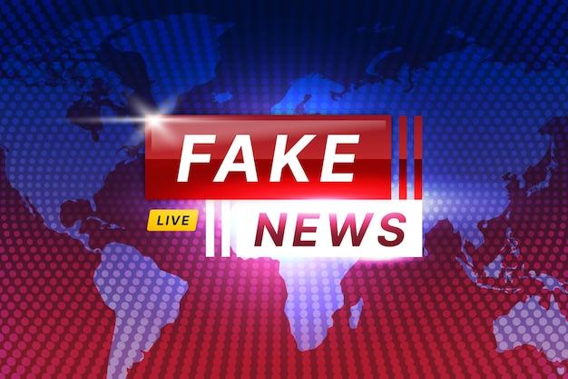 Fake nieuwsuitzending thema Gratis Vector