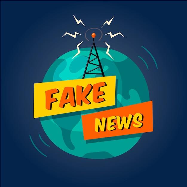 Fake nieuwsuitzending Gratis Vector