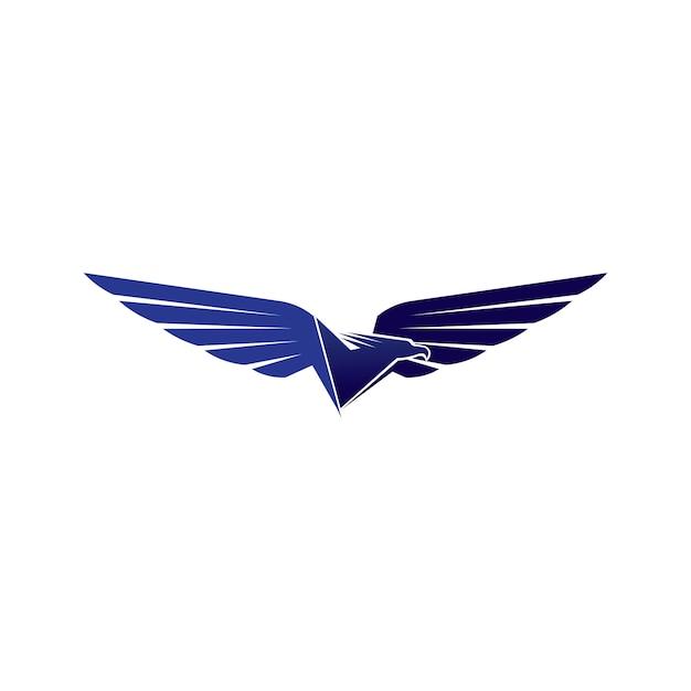 Falcon wings logo template vector pictogram logo Premium Vector