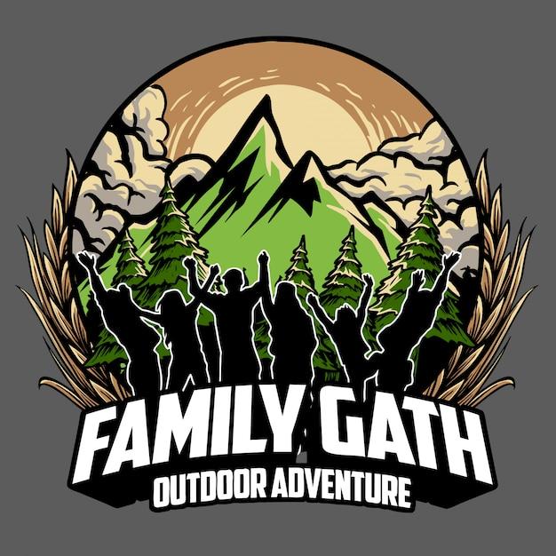 Familie bijeenkomst Premium Vector