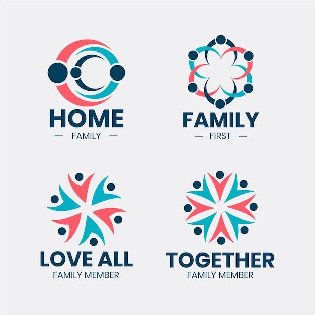Familie logo collectie Gratis Vector