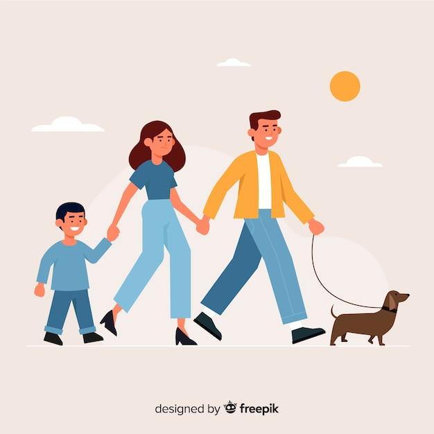 Familie portret Gratis Vector