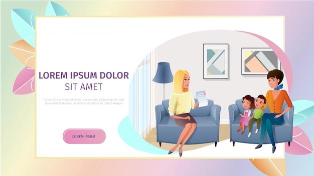 Family psychologist online consultation vector Premium Vector