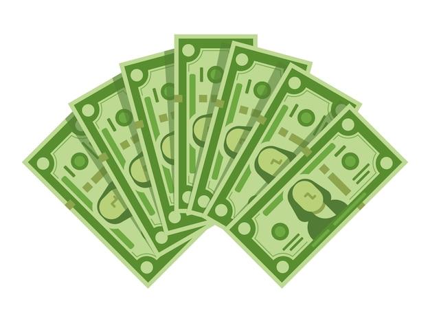 Fan van geldbankbiljetten Premium Vector