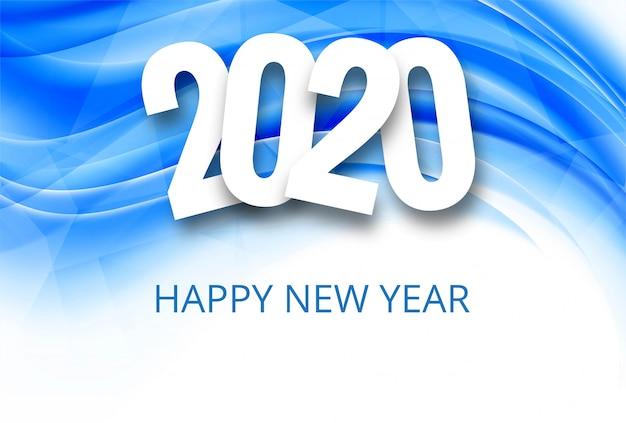 Fantastische 2020 nieuwe jaar tekst viering achtergrond Gratis Vector