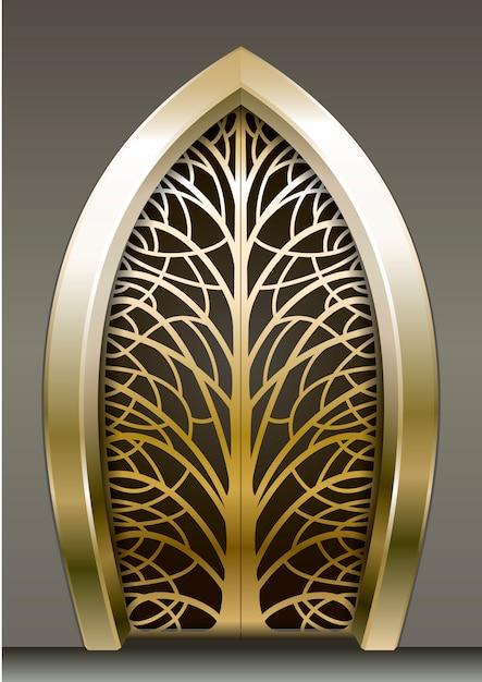 Fantastische golden gate Premium Vector
