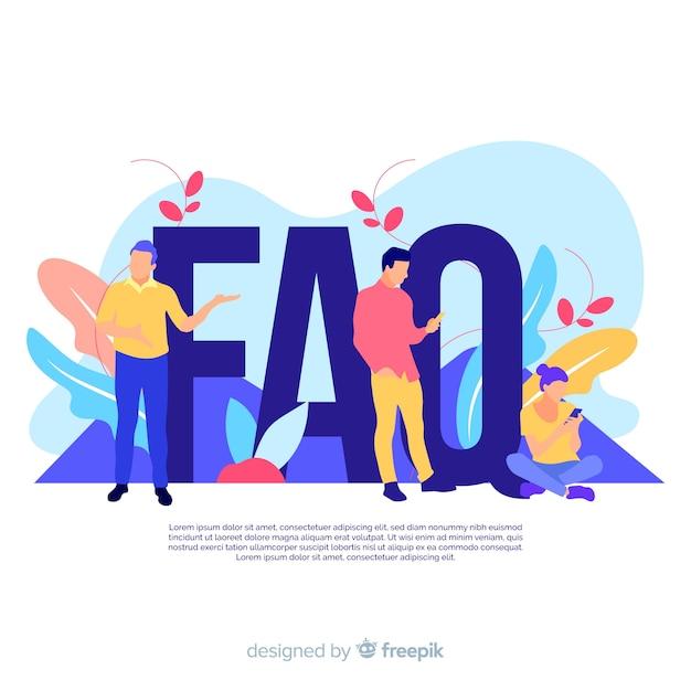 Faq-concept Gratis Vector