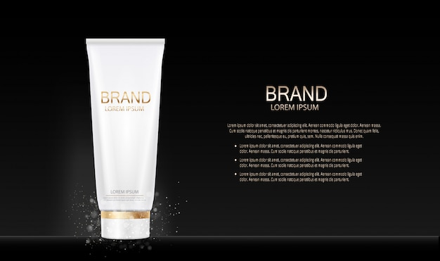 Fashion design make-up cosmetica product. 3d-realistisch Premium Vector