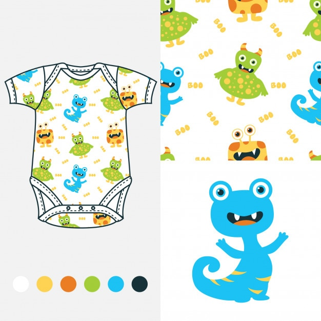Babykleding 80.Fashion Design Voor Babykleding Vector Premium Download