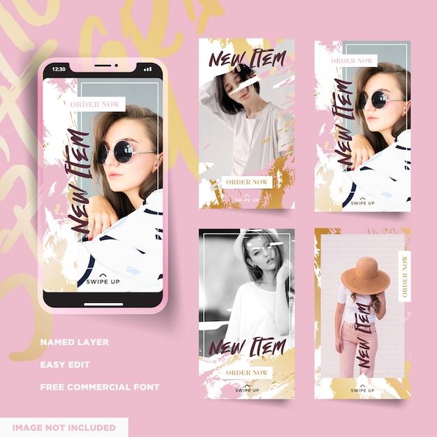 Fashion promo instagram verhalencollectie Premium Vector