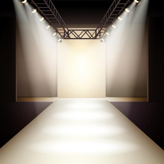 Fashion runway achtergrond Gratis Vector