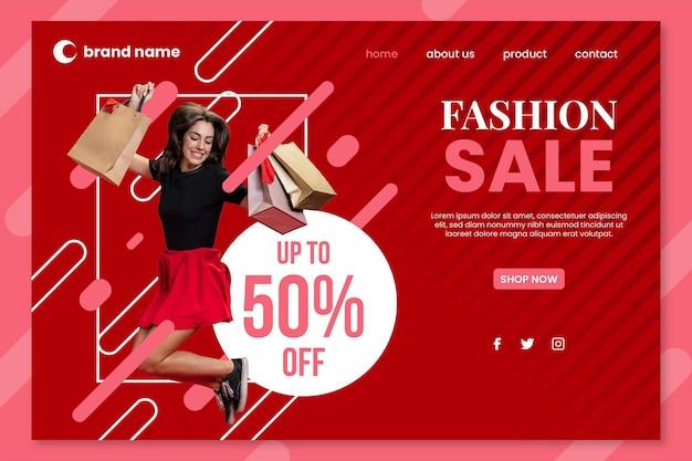 Fashion sale - bestemmingspagina Gratis Vector
