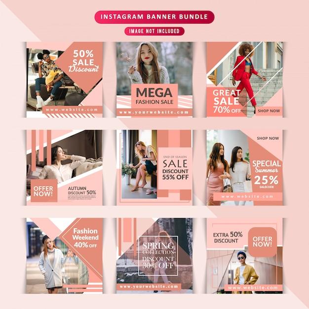 Fashion webbanner voor sociale media Premium Vector