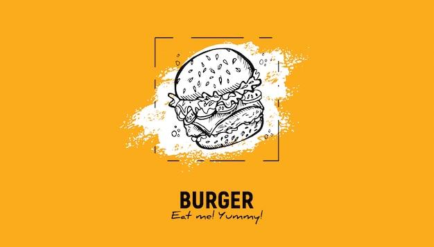 Fastfood schets Premium Vector