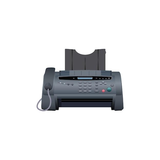 Faxapparaat pictogram. kantoorapparatuur. Premium Vector