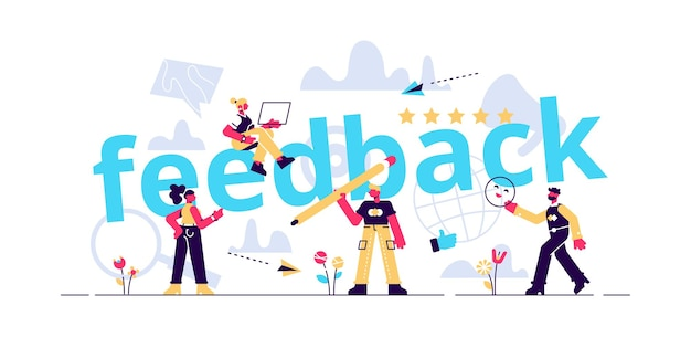 Feedback concept illustratie Premium Vector