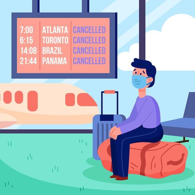 Feestdagen en reizen annuleringsaankondiging Gratis Vector