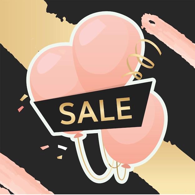 Feestelijke verkoop teken Gratis Vector