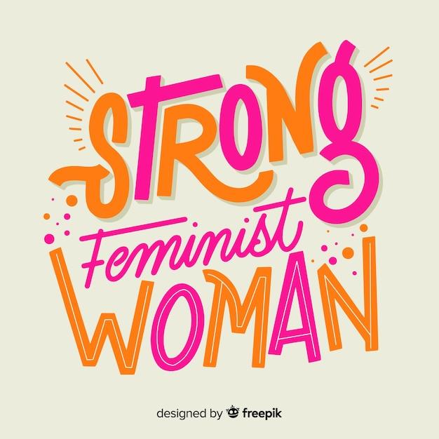 Feminisme concept achtergrond Gratis Vector
