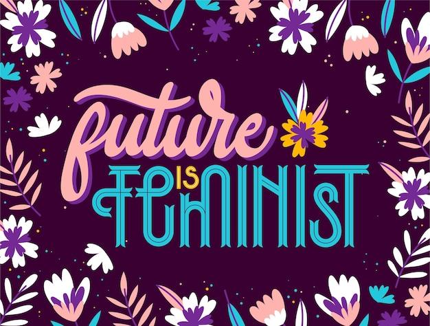 Feministische belettering Premium Vector