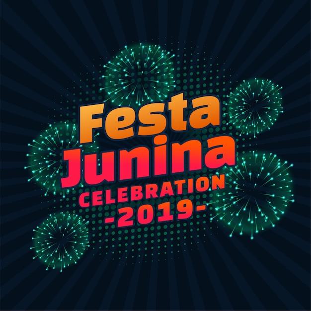 Festa junina 2019 belettering Gratis Vector