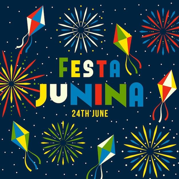 Festa junina concept Gratis Vector