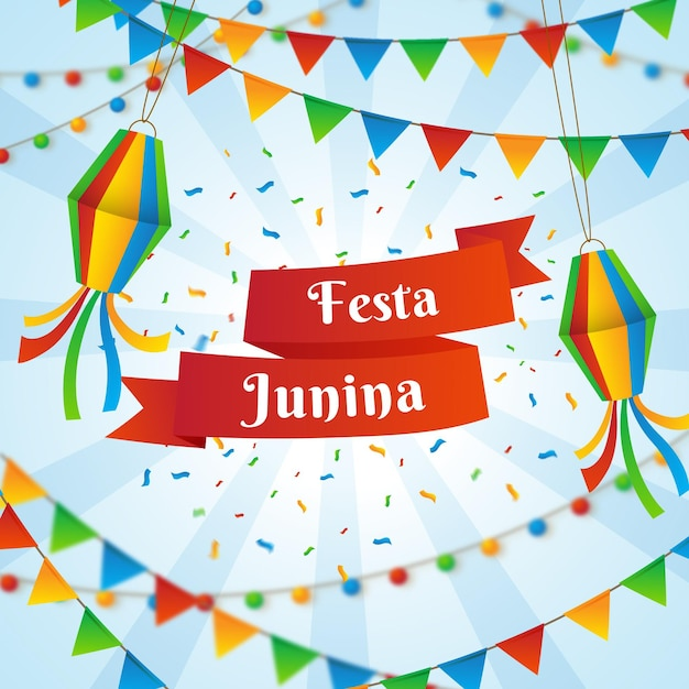 Festa junina-evenement Gratis Vector
