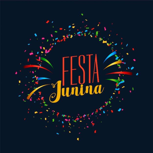 Festa junina-feestfeestkaart Gratis Vector