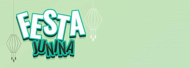 Festa junina festivalbanner met tekstruimte Gratis Vector