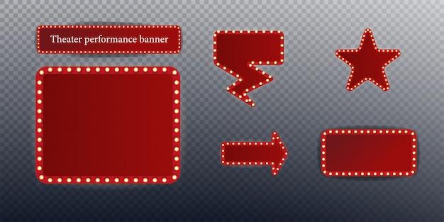 Festival of show poster, uitnodiging concert banner stock illustratie. Premium Vector