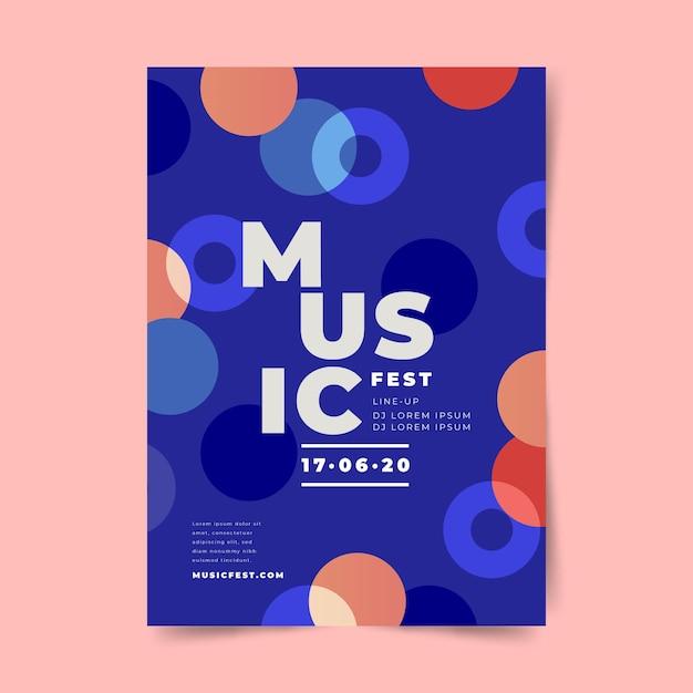 Festival ontwerpsjabloon posterconcept Gratis Vector