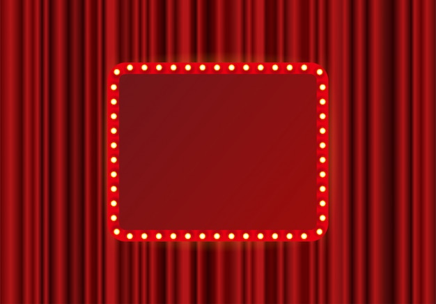 Festival, show of theater podium rechthoek frame Premium Vector