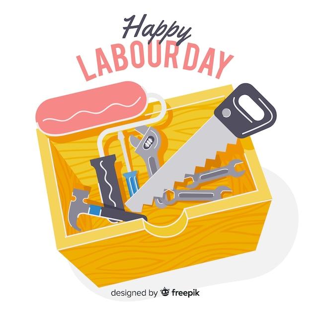 Fijne dag van de arbeid Gratis Vector