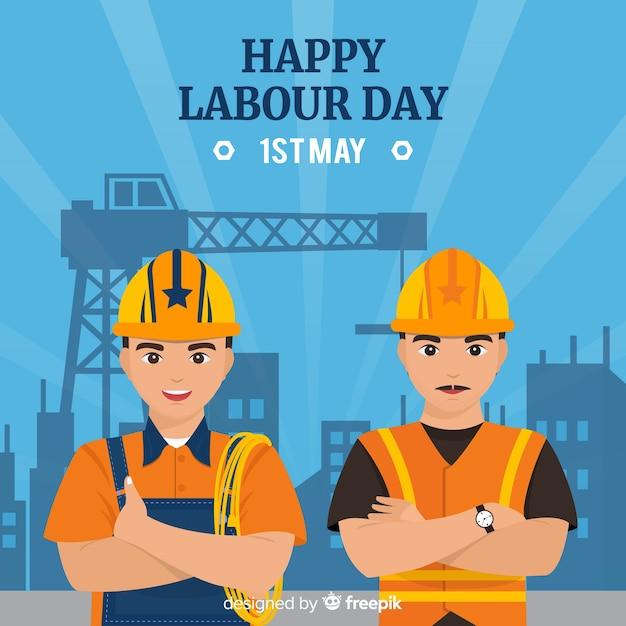 Fijne dag van de arbeid Premium Vector