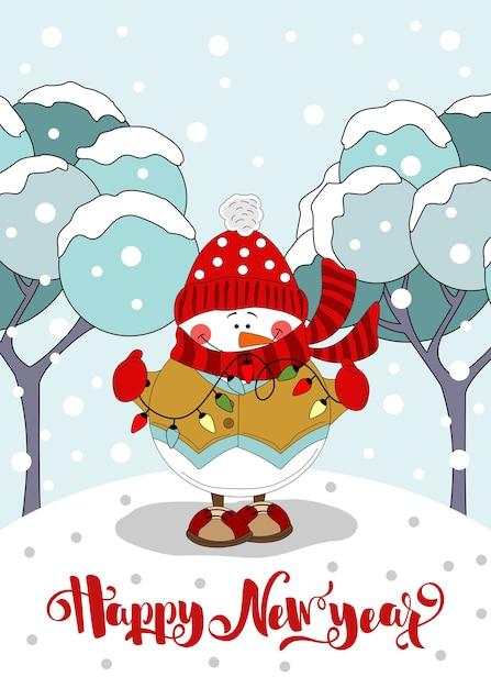 Fijne feestdagen wenskaart. kerst achtergrond. kerst- en nieuwjaarsbelettering afdrukken op stof, papier, ansichtkaarten, uitnodigingen. Premium Vector