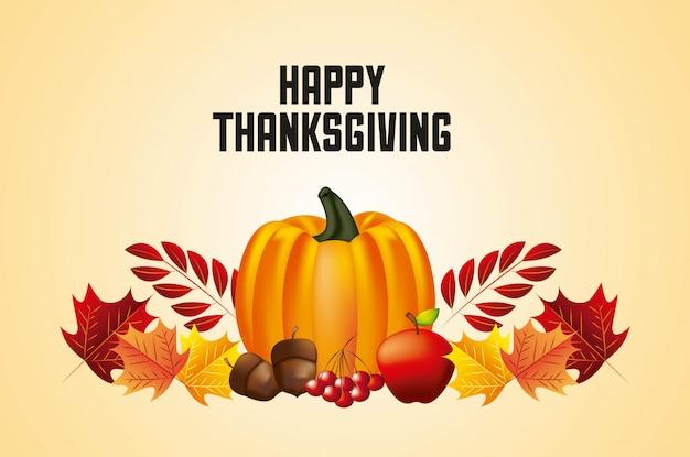 Fijne thanksgiving-dag Gratis Vector