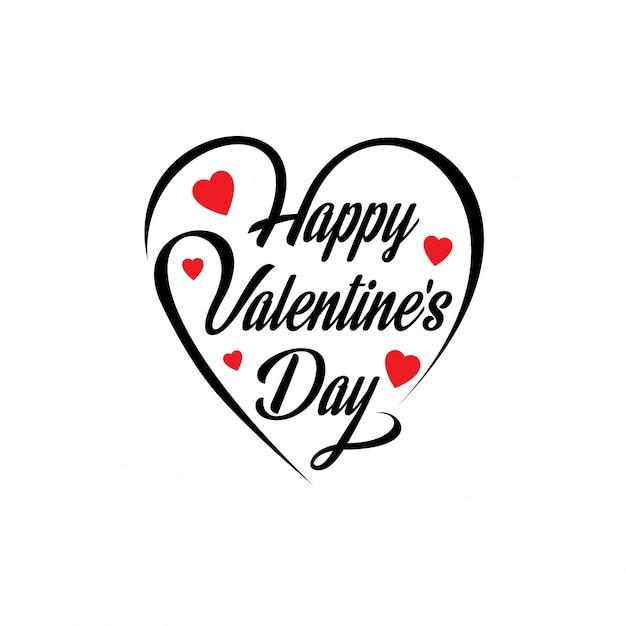 Fijne valentijnsdag Gratis Vector