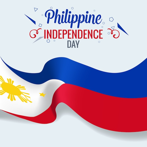 Filippijnse onafhankelijkheidsdag viering banner Premium Vector