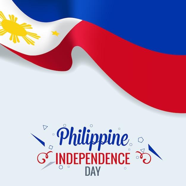 Filippijnse onafhankelijkheidsdag Premium Vector