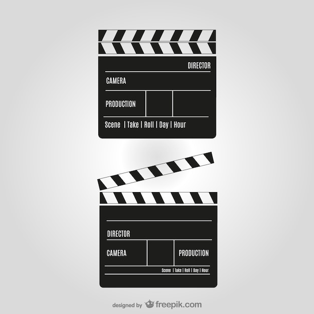 Film clipper vector Gratis Vector